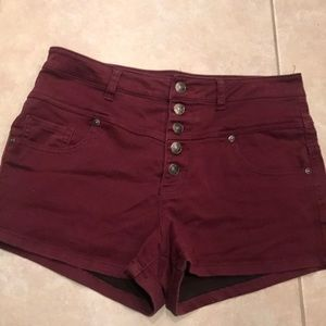 Size 12 Button Up High Waisted Shorts